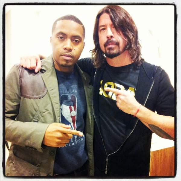 Nas and Dave Grohl