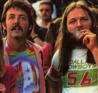 Paul McCartney & Dave Gilmour at a Led Zeppelin concert